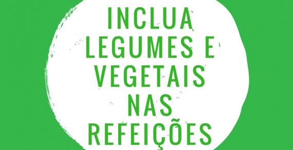 Inclua verduras e legumes nas refeições