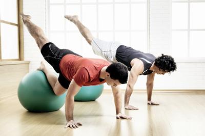 Homens no Pilates